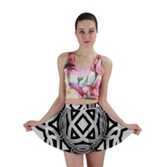 Celtic Draw Drawing Hand Draw Mini Skirt