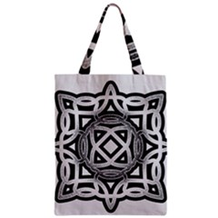 Celtic Draw Drawing Hand Draw Zipper Classic Tote Bag