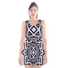Celtic Draw Drawing Hand Draw Scoop Neck Skater Dress