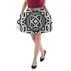 Celtic Draw Drawing Hand Draw A-Line Pocket Skirt