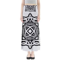 Celtic Draw Drawing Hand Draw Maxi Skirts