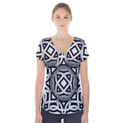 Celtic Draw Drawing Hand Draw Short Sleeve Front Detail Top