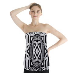 Celtic Draw Drawing Hand Draw Strapless Top