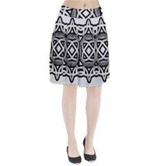 Celtic Draw Drawing Hand Draw Pleated Skirt