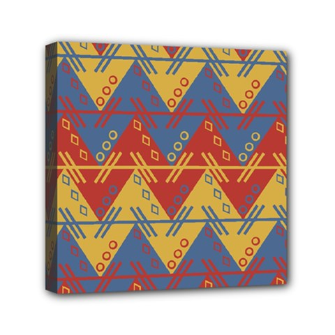 Aztec traditional ethnic pattern Mini Canvas 6  x 6