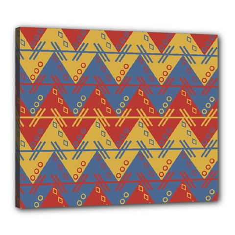 Aztec traditional ethnic pattern Canvas 24  x 20