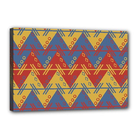Aztec Traditional Ethnic Pattern Canvas 18  X 12