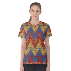 Aztec Traditional Ethnic Pattern Women s Cotton Tee