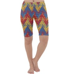 Aztec traditional ethnic pattern Cropped Leggings
