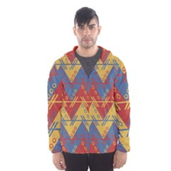 Aztec Traditional Ethnic Pattern Hooded Wind Breaker (men)
