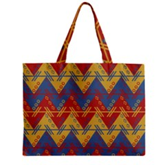Aztec traditional ethnic pattern Zipper Mini Tote Bag