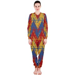 Aztec Traditional Ethnic Pattern Onepiece Jumpsuit (ladies)