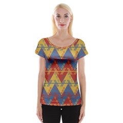 Aztec traditional ethnic pattern Women s Cap Sleeve Top