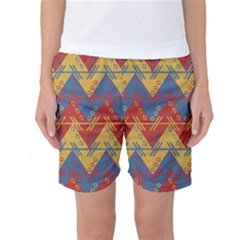 Aztec traditional ethnic pattern Women s Basketball Shorts