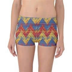 Aztec traditional ethnic pattern Boyleg Bikini Bottoms
