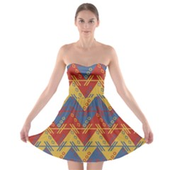 Aztec traditional ethnic pattern Strapless Bra Top Dress