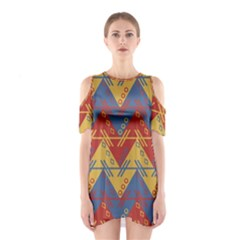 Aztec traditional ethnic pattern Shoulder Cutout One Piece