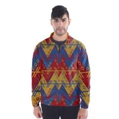 Aztec traditional ethnic pattern Wind Breaker (Men)