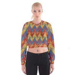 Aztec Traditional Ethnic Pattern Cropped Sweatshirt