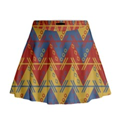 Aztec traditional ethnic pattern Mini Flare Skirt