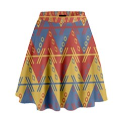 Aztec traditional ethnic pattern High Waist Skirt