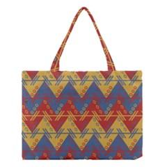 Aztec traditional ethnic pattern Medium Tote Bag