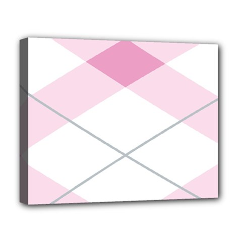 Tablecloth Stripes Diamonds Pink Deluxe Canvas 20  x 16