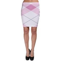 Tablecloth Stripes Diamonds Pink Bodycon Skirt