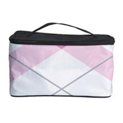 Tablecloth Stripes Diamonds Pink Cosmetic Storage Case