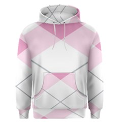 Tablecloth Stripes Diamonds Pink Men s Pullover Hoodie