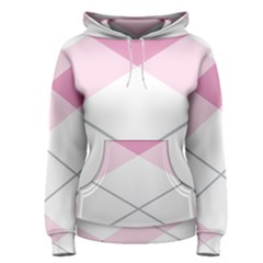 Tablecloth Stripes Diamonds Pink Women s Pullover Hoodie