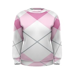 Tablecloth Stripes Diamonds Pink Women s Sweatshirt