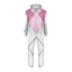 Tablecloth Stripes Diamonds Pink Hooded Jumpsuit (Kids)