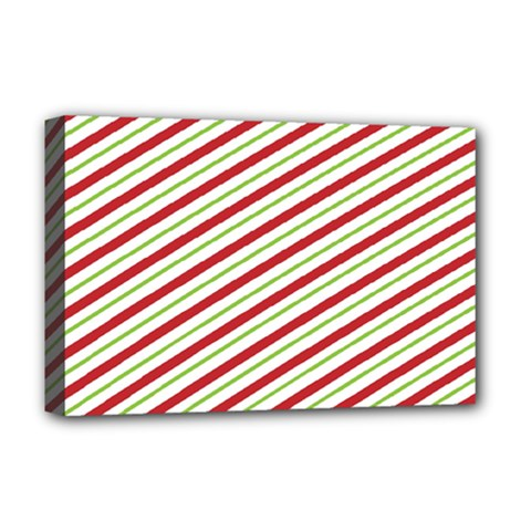 Stripes Striped Design Pattern Deluxe Canvas 18  x 12