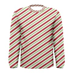 Stripes Striped Design Pattern Men s Long Sleeve Tee