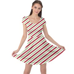 Stripes Striped Design Pattern Cap Sleeve Dresses