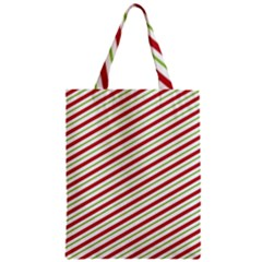 Stripes Striped Design Pattern Zipper Classic Tote Bag