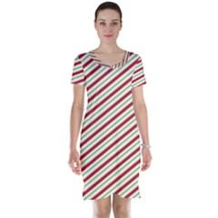 Stripes Striped Design Pattern Short Sleeve Nightdress