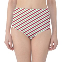 Stripes Striped Design Pattern High-Waist Bikini Bottoms