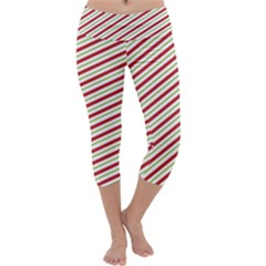 Stripes Striped Design Pattern Capri Yoga Leggings