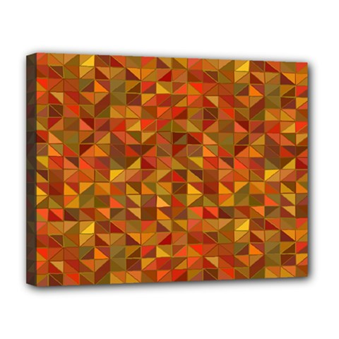 Gold Mosaic Background Pattern Canvas 14  x 11