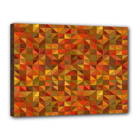 Gold Mosaic Background Pattern Canvas 16  x 12