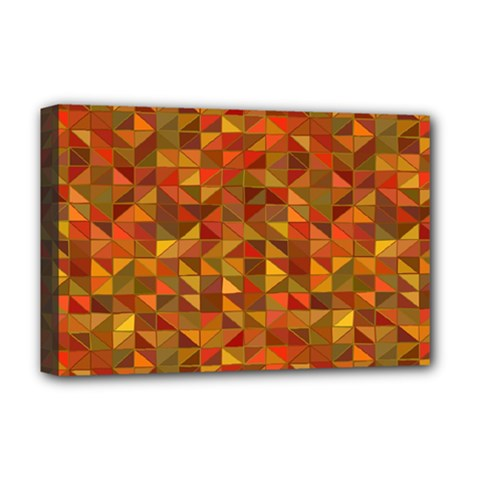 Gold Mosaic Background Pattern Deluxe Canvas 18  X 12