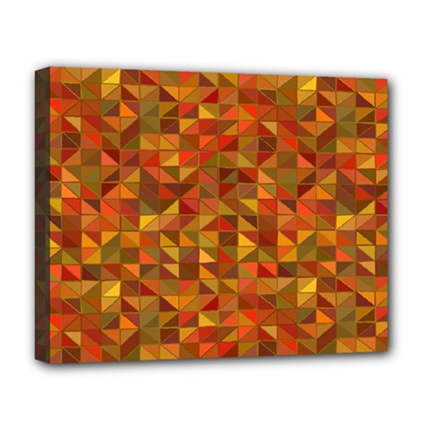 Gold Mosaic Background Pattern Deluxe Canvas 20  x 16