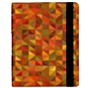 Gold Mosaic Background Pattern Samsung Galaxy Tab 8.9  P7300 Flip Case View2