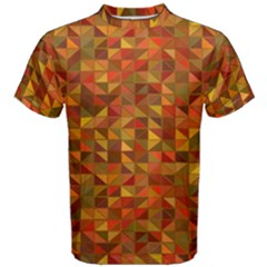 Gold Mosaic Background Pattern Men s Cotton Tee