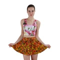 Gold Mosaic Background Pattern Mini Skirt