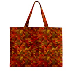 Gold Mosaic Background Pattern Mini Tote Bag