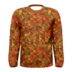 Gold Mosaic Background Pattern Men s Long Sleeve Tee