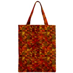 Gold Mosaic Background Pattern Zipper Classic Tote Bag